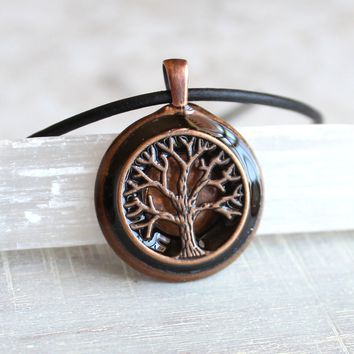 Copper tree of life necklace - available in additional colors