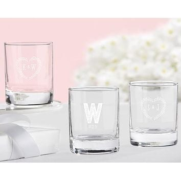 Personalized Shot Glass/Votive Holder - Kate's Rustic Wedding Collection