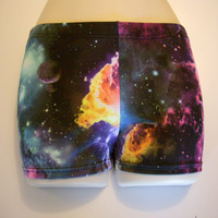 galaxy spandex  shorts
