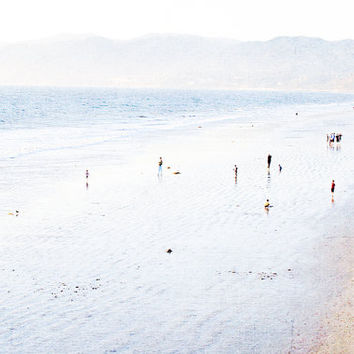 Large Beach Photography // Santa Monica Beach Print // California Dreamin' // Santa Monica Ocean Beach Landscape - Large Beach Print LA