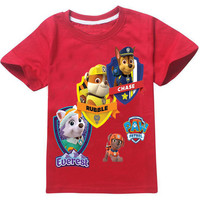 PAW PATROL t-shirts children clothing for kids short sleeve t shirts for 3D cotton cartoon