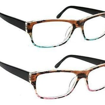 WOMEN RETRO READING GLASSES ARCADIA CLASSIC STYLE SPRING HINGE FRAME READERS