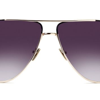 Italia Independent - Dominique Pink Gold + Black Sunglasses / Shaded Grey Lenses