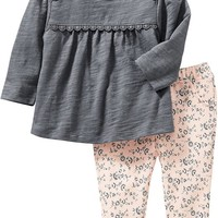 Old Navy Lace Tee And Leggings Set For Baby