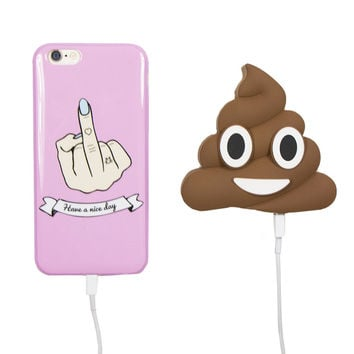 OH SHIT EMOJI PORTABLE PHONE CHARGER