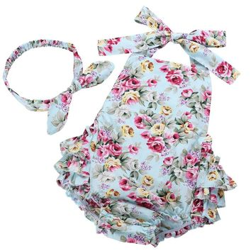 Summer newborn baby girl clothes infant suspenders ropa de bebe nina 2016 Baby Wear Jumpsuits Clothing suit baby romper 7E2037