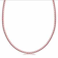 Diamond Cut Reversible Snake Chain Necklace in Rose Gold Plated Sterling Silver