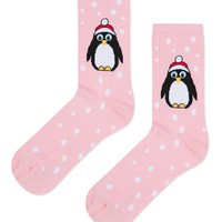 Christmas Penguin Socks - Bags & Accessories