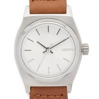 Small Time Teller Watch with Leather Strap