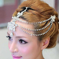 Venusvi Bride Bridesmaids Wedding Party Tiara Rhinestone Crown