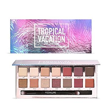 ROPALIA 14 Color Matte Shimmer Colorful Waterproof Makeup Eyeshadow Palette (B)