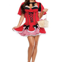Red French Maid Dress Halloween Costume