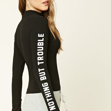Nothing But Trouble Graphic Top