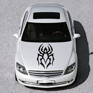 EVIL SPIDER ANIMAL, DESIGN HOOD CAR VINYL STICKER DECALS ART MURALS SV1156