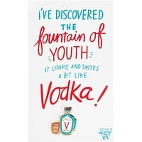 Fountain Of Youth Vodka Enamel Pin on Gift Card