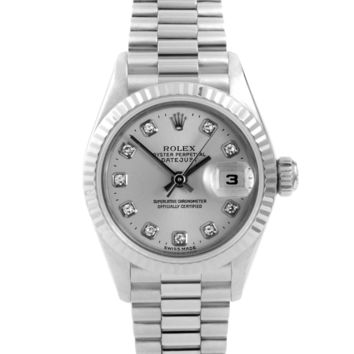 1999 Rolex Datejust 79179 26 Millimeters Silver Dial (Certified Pre-Owned)