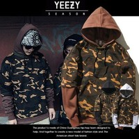 DCCKJN3 Hoodies Men's Fashion Yeezy Hip-hop Camouflage Pullover Casual Hoodies [103864664076]