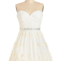 ModCloth Strapless A-line Graduation Dance Dress