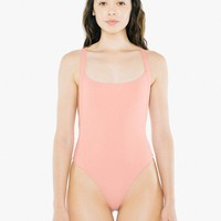 2x2 Thick Strap Thong Bodysuit | American Apparel
