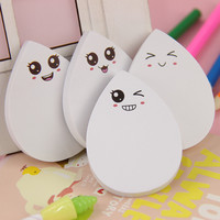 1pcs DIY Water Drop Face Smily Memo Pad Sticky Label Post It School Sticky Note for School Office Supplies Stationery