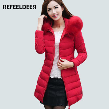 Womens Winter Jackets And Coats 2016 Thick Warm Hooded Cotton Padded Parkas For Women's Winter Jacket Female Manteau Femme