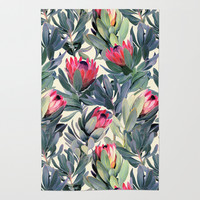 Painted Protea Pattern Rug by Micklyn