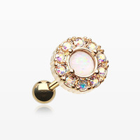 Golden Opal Elegance Cartilage Tragus Earring