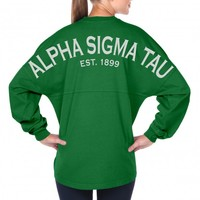 Alpha Sigma Tau Est. 1899 - Sorority Basics - Classic Spirit Football Jersey® A