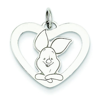 Sterling Silver Disney Piglet Heart Charm WD196SS