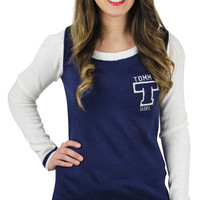 Tommy Girl Hilfiger Junior's Knit Varsity Logo Sweater