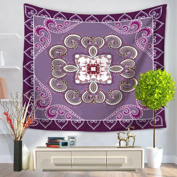 Arabesquitic Hanging Wall Tapestry Polyester Sandy Beach Towel Yoga Mat Picnic Blanket Throw Rug Wall Carpet