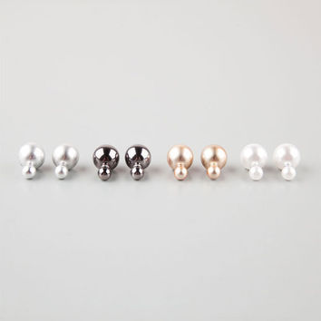 Full Tilt 4 Pair Front/Back Ball Earrings Metal One Size For Women 25145719101