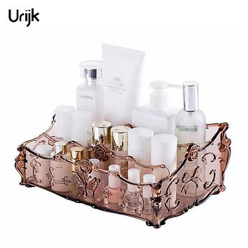 Urijk Acrylic Makeup Organizer for Cosmetics Storage Box Rack Make Up Boxes for Storage Bathroom Desk Accessories Organizer