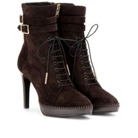 Manners Brogued Suede Ankle Boots ∫ Burberry London ◊ mytheresa