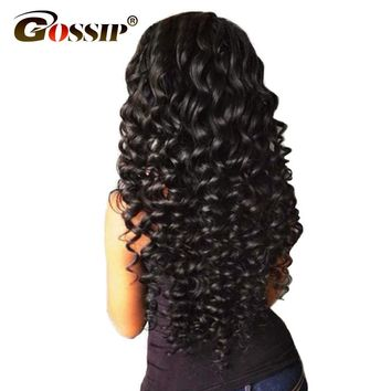 Gossip Hair Bundles Deep Wave Brazilian Hair Weave Bundles Wet And Wavy Curly Human Hair Bundles Deal 100% Human Hair Extensions
