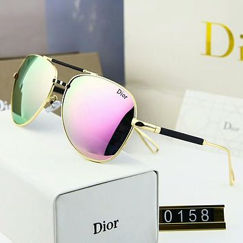Dior Fashion Women Elegant Summer Sun Shades Eyeglasses Glasses Sunglasses Pink Purple I-A-SDYJ