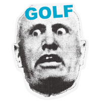 "MUSSOLINI GOLF 5.5"" STICKER – golfwang"