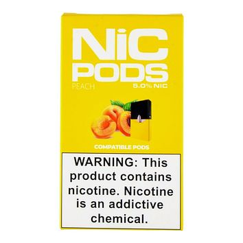 Nic Pods Peach Pack of 4