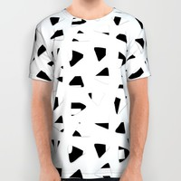 Black and White triangles All Over Print Shirt by Haroulita | Society6