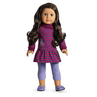 American Girl® Clothing: Striped School Dress + Charm