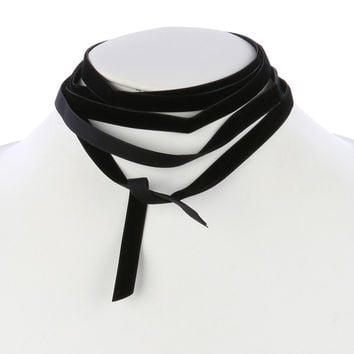 Velvet Wraparound Choker Necklace