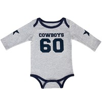 Dallas Cowboys Newborn/Infant Walden Creeper - Gray