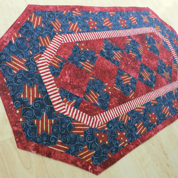 Quilted Table Runner - Americana Patriotic                293