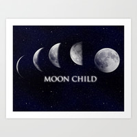 Moon Child Art Print by DuckyB (Brandi)