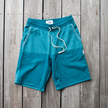 Reigning Champ Sea To Sky Terry Short - 'Turquoise/Grey'