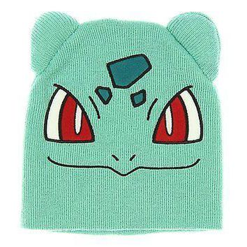 POKEMON BULBASAUR BIG FACE Knit Beanie Cap Hat (317057)