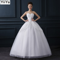 Free shipping fashion white wedding dress cheap wedding gown romantic wedding dresses frock Vestidos De Novia Y611