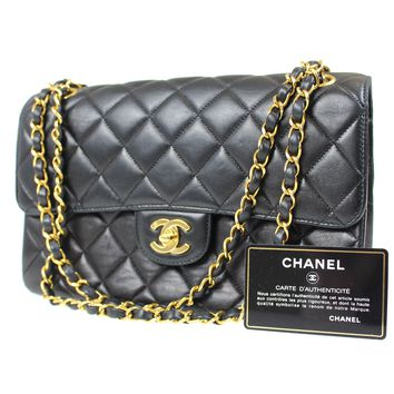 CHANEL Quilted Matelasse Chain Shoulder Bag Black Leather Vintage Auth #D439 M