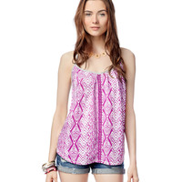 Aeropostale  Womens Printed Ring-Back Tank Top
