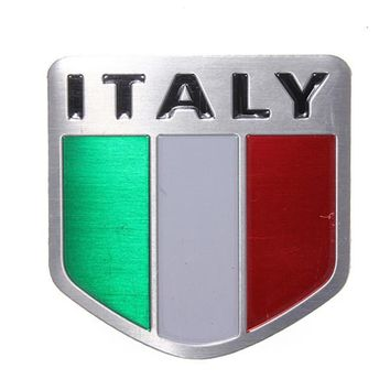 2016 Newest Auto Alloy Metal 3D Emblem Badge Racing Sports Decals Sticker for ITALY Italian Flag